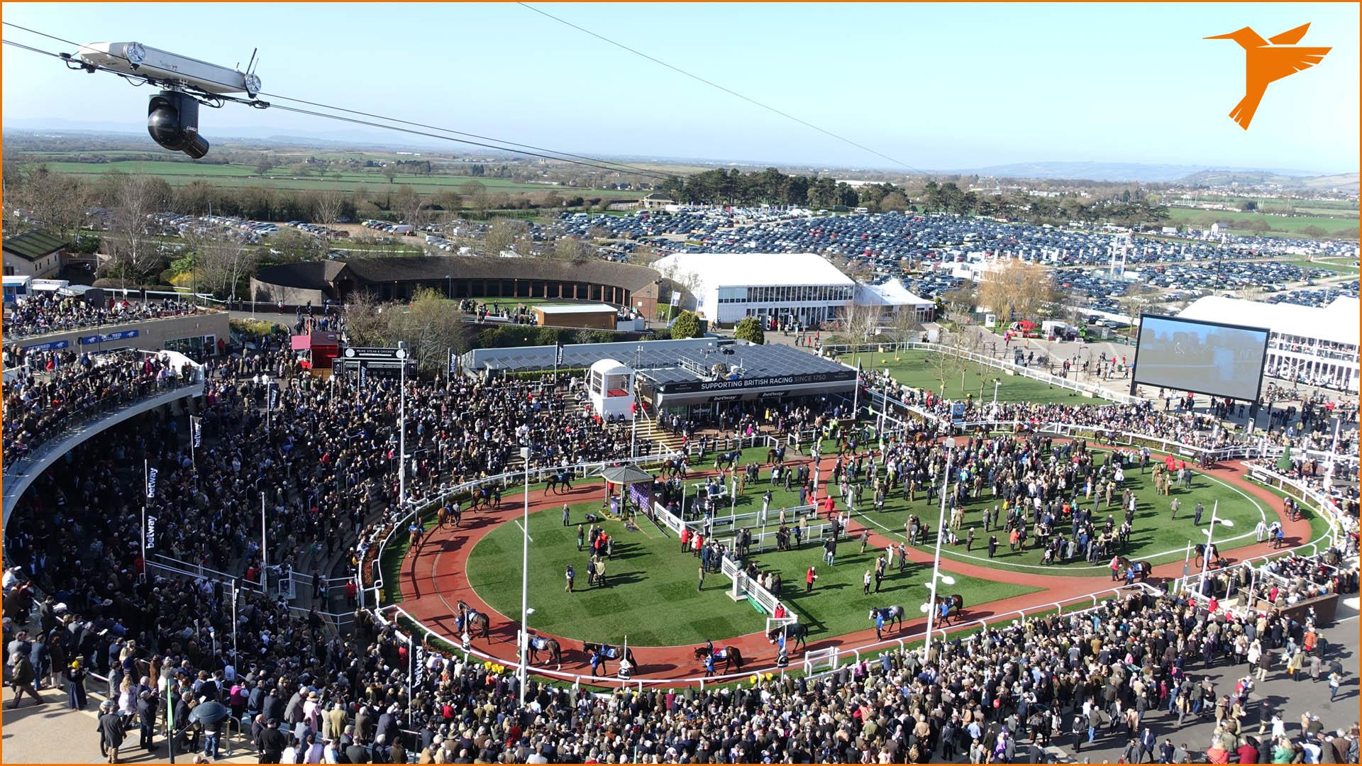 Ascot, Royal Ascot, Pferderennen, horse race, Cheltenham, Colibri WireCam, cablecam, wirecam, flycam, Seilkamera, Kameraseilbahn