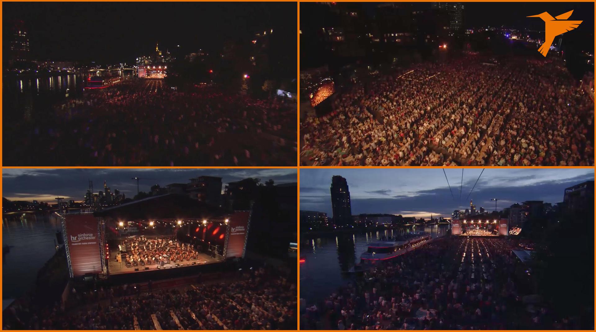 Weseler Werft, Europa Open Air, hr, Hessischer Rundfunk, Colibri WireCam, cablecam, wirecam, flycam, Seilkamera, Kameraseilbahn,