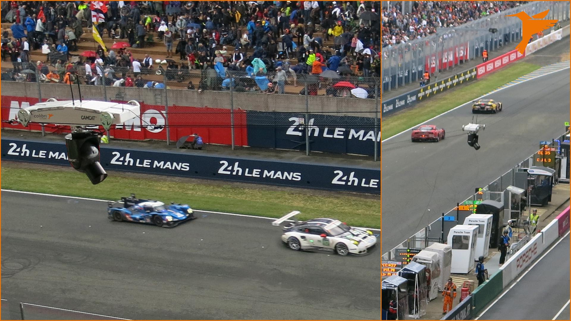 24h Le Mans, Colibri WireCam, cablecam, wirecam
