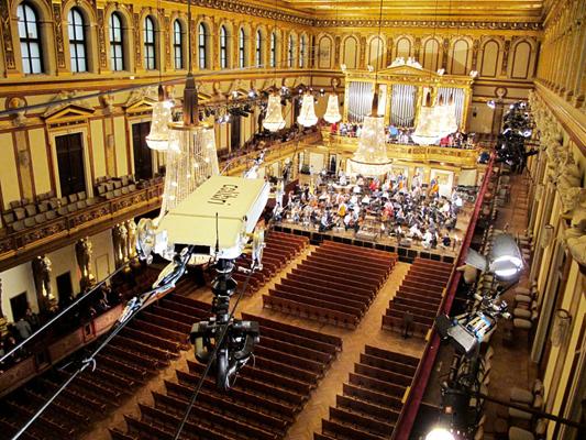 Colibri WireCam beim Neujahrskonzert 2013 im Wiener Musikverein