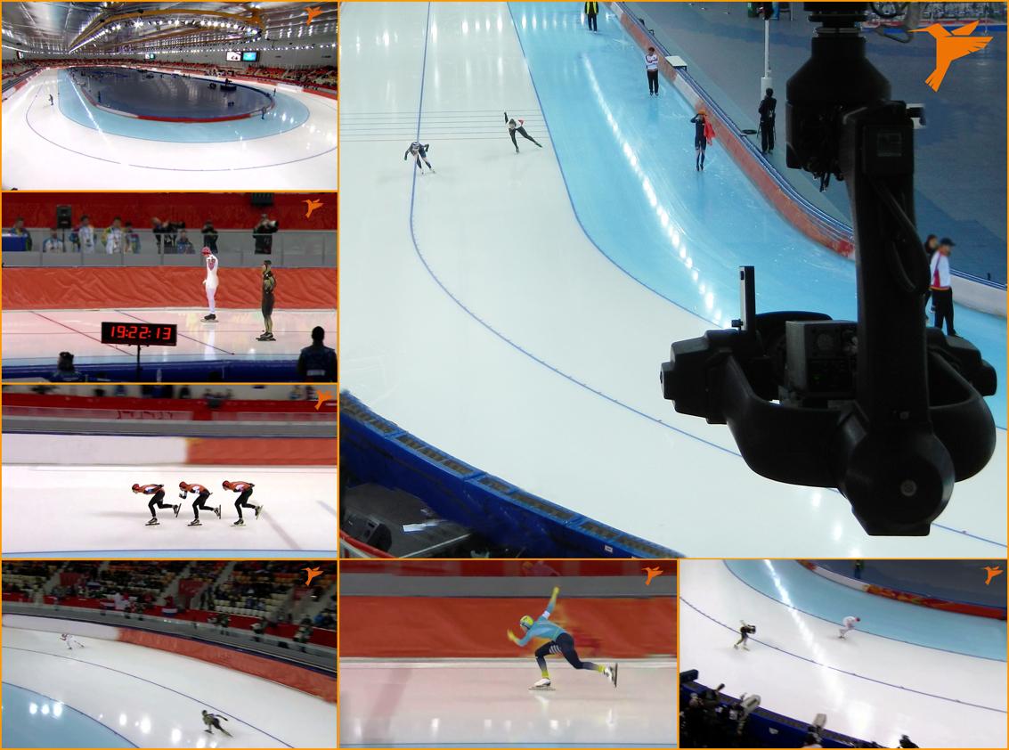 Colibri WireCam in Sochi 2014 bei Eisschnelllauf Wettbewerben